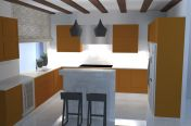 Kuchyně a celková dispozice, Černolice, 2015